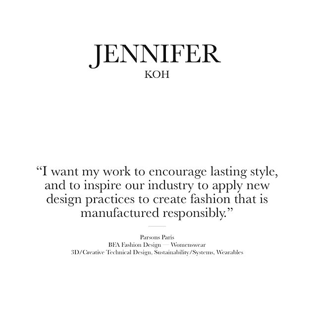 On sustainable design. From my profile on #CFDA Talent Book 📚 #CFDAplus