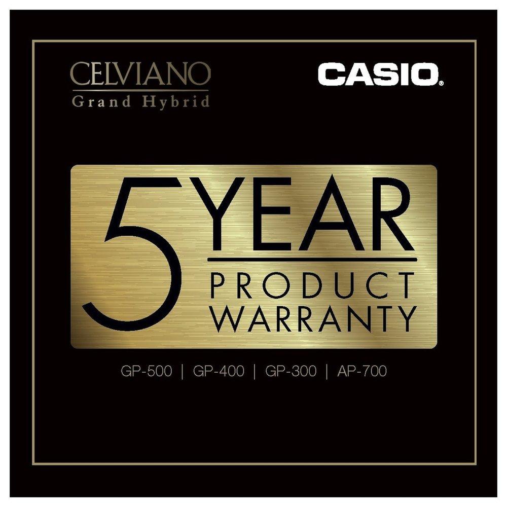 Casio GP-300WE Grand Hybrid Piano 5 year warranty