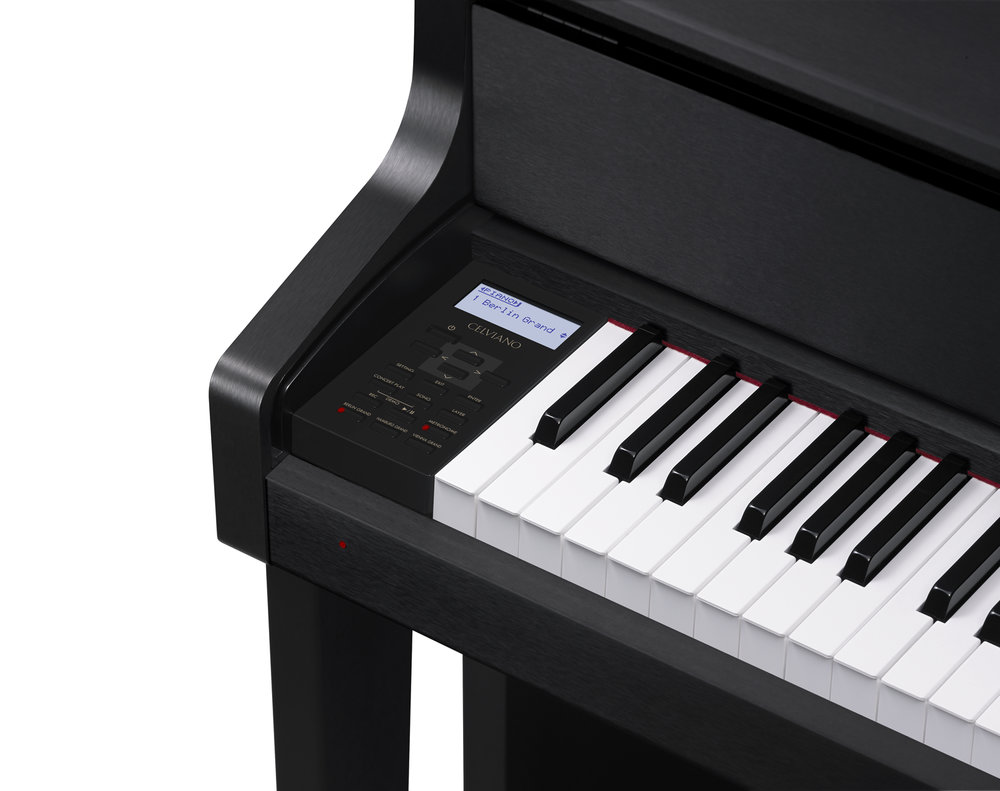 Casio GP-300BK Grand Hybrid Piano keys