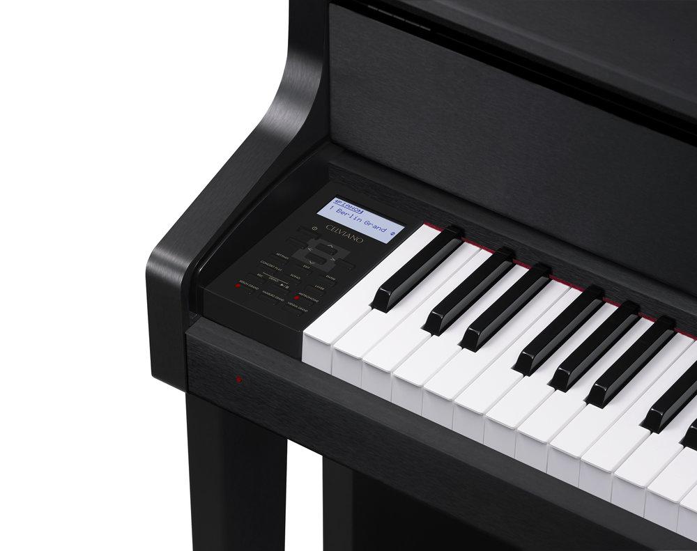 Casio GP-300BK Grand Hybrid Piano keys