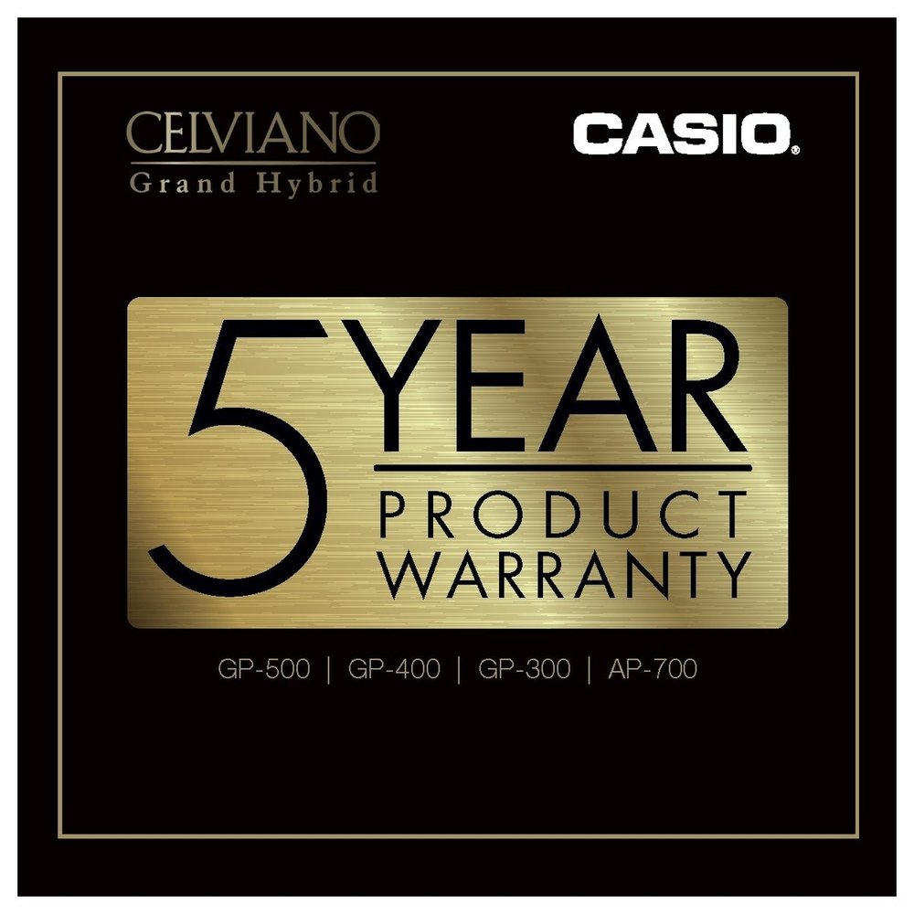 Casio GP-300BK Grand Hybrid Piano 5 year guarantee