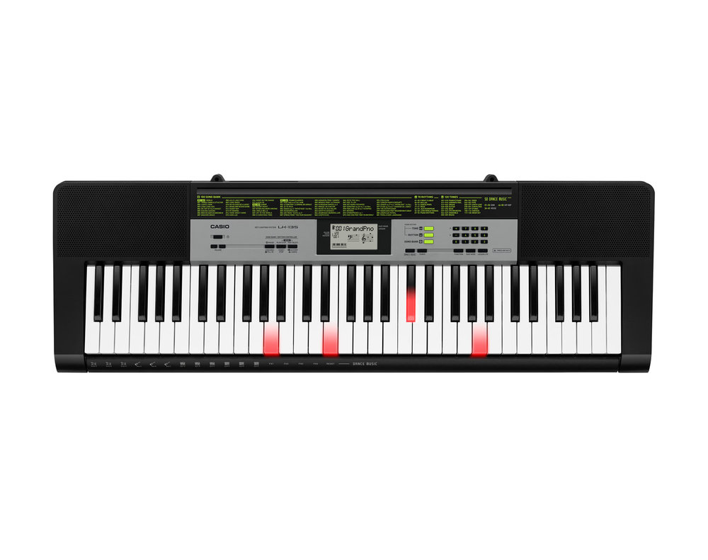 Casio LK-135 key lighting keyboard image top