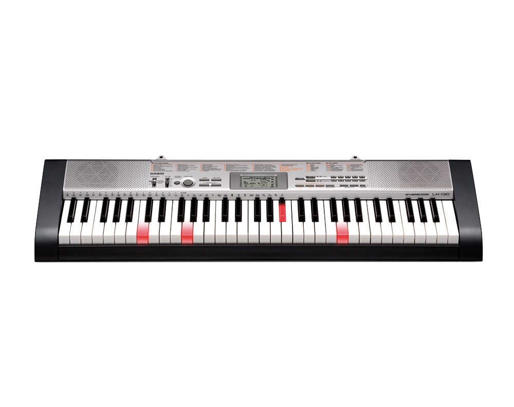 Casio LK130 key lighting keyboard image front