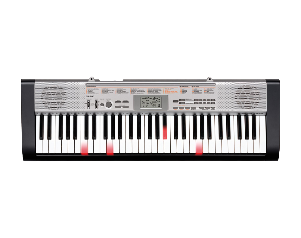 Casio LK130 key lighting keyboard image top
