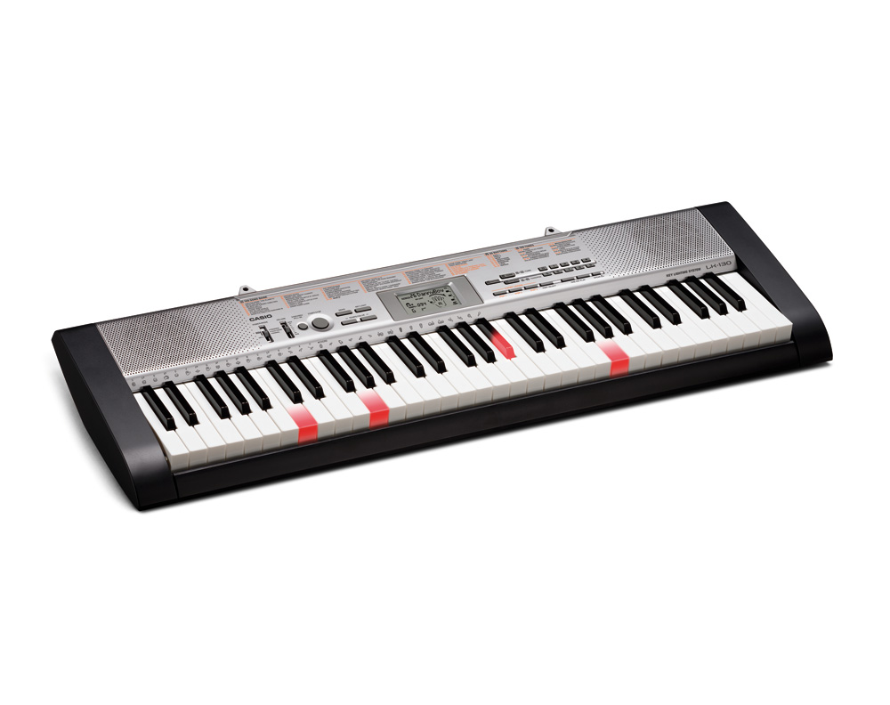 Casio LK130 key lighting keyboard image side