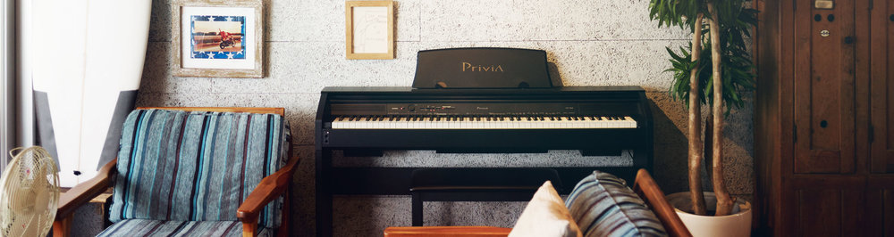 PRIVIA® COMPACT LIVING PIANOS -