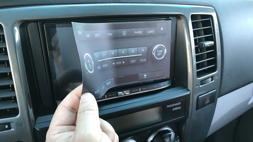stereo cling remove
