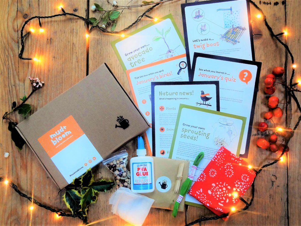 January's Mud & Bloom Box - To buy January's box as a one off purchase for £7.95 click here