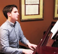 Patrick – piano, composition, musical theater, vocal coaching - Patrick's musical path has led him everywhere from orchestra pits to rock battles – he recently accompanied two different groups for a battle of the bands, managing to snag both first and third place. In the musical theater realm, Patrick has graced the stage (and the orchestra pit) in many local theaters including the Media Theater, Lansdowne Celebration Theater and Hedgerow Theater. Patrick earned his Bachelor's of Music Degree from Hillsdale College, with a dual focus in both piano performance and composition. He has also served as a substitute teacher for two local school districts, where he has had the chance to work with kids in grades K-12. Beyond the classroom, Patrick has also served as the musical director for two different children's theater camps with the Media Theater. He recently began focusing on a musical pursuit of a different variety – composing original music for video games. When he's not participating in a musical or competing on stage, Patrick loves reading, watching really good TV and movies, and hanging out with both two legged and four legged friends. (He has two dogs Abby, a Saint Bernard and Ernie a Mastiff.) Patrick teaches piano and voice for the school.