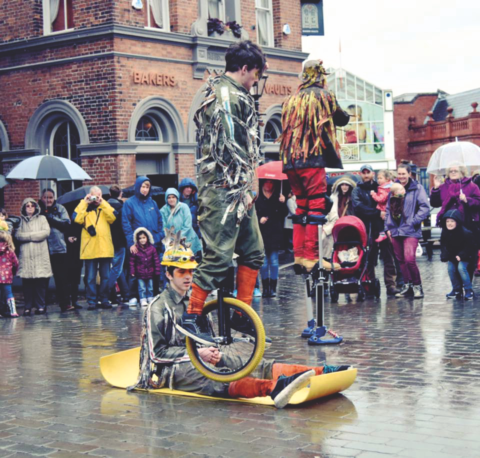 Hopping Unicyclist