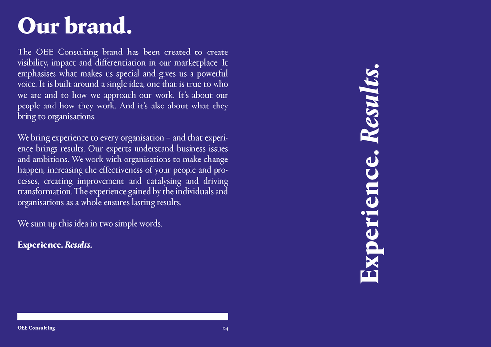 OEE Consulting brand guidelines