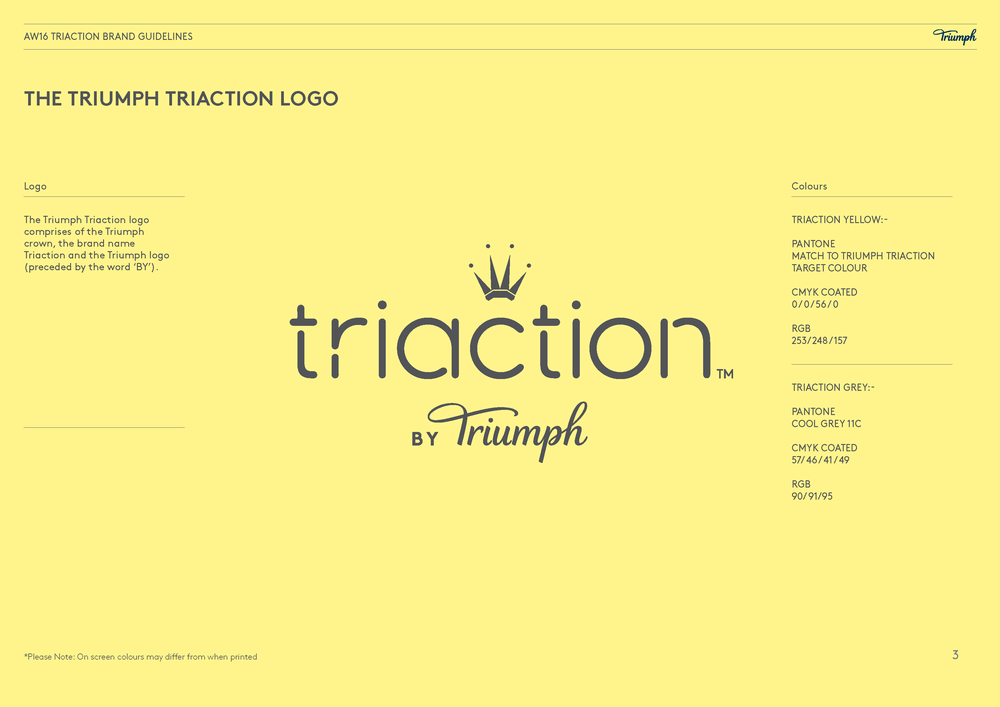 Triaction by Triumph brand guidelines