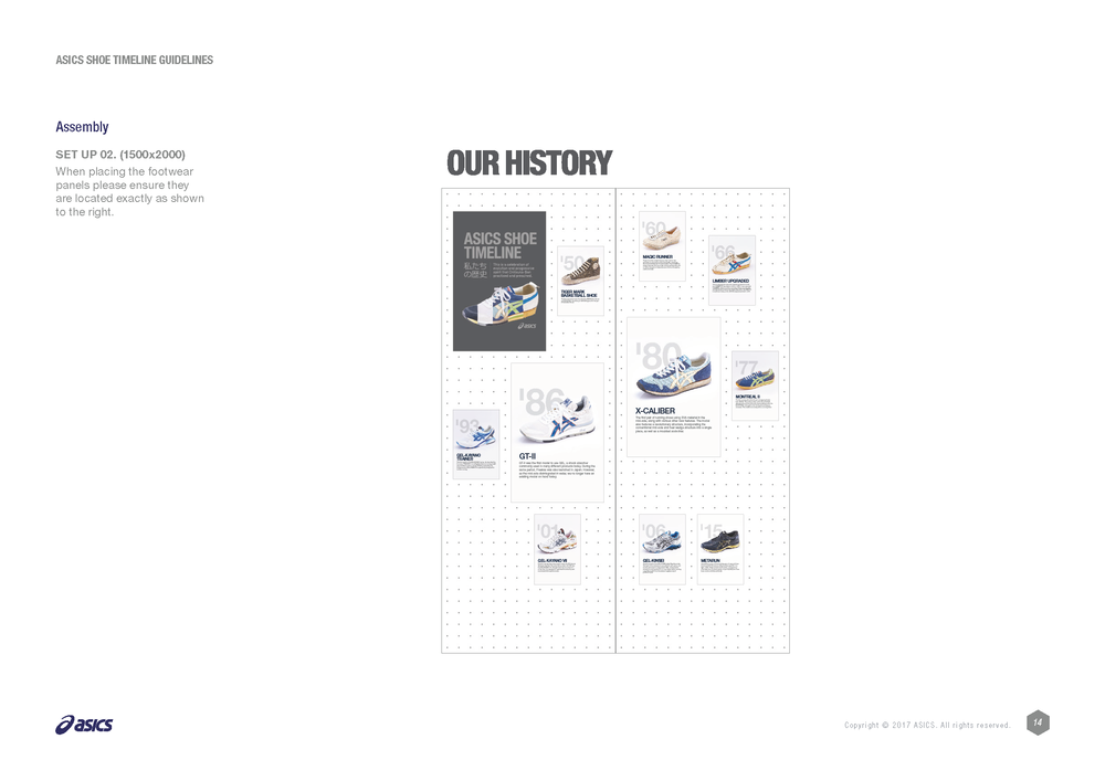 Asics shoe history guidelines