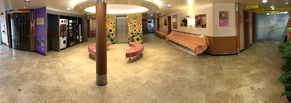 Reception area, European Causeway