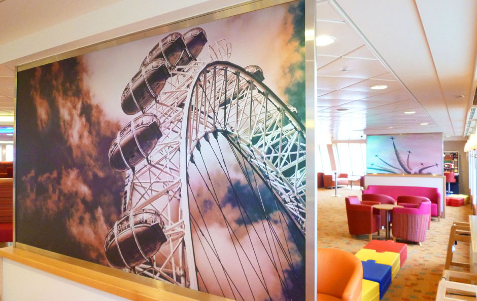 Lifestyle graphics on board P&O Ferries' Spirit of Britain