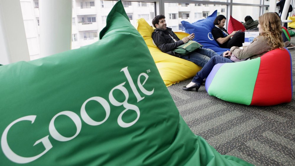 Google's Silicon Valley offices feature a bean bag-filled 'hangout' area.