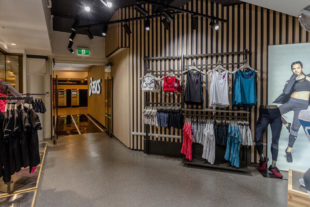 commercial design retail ASICS