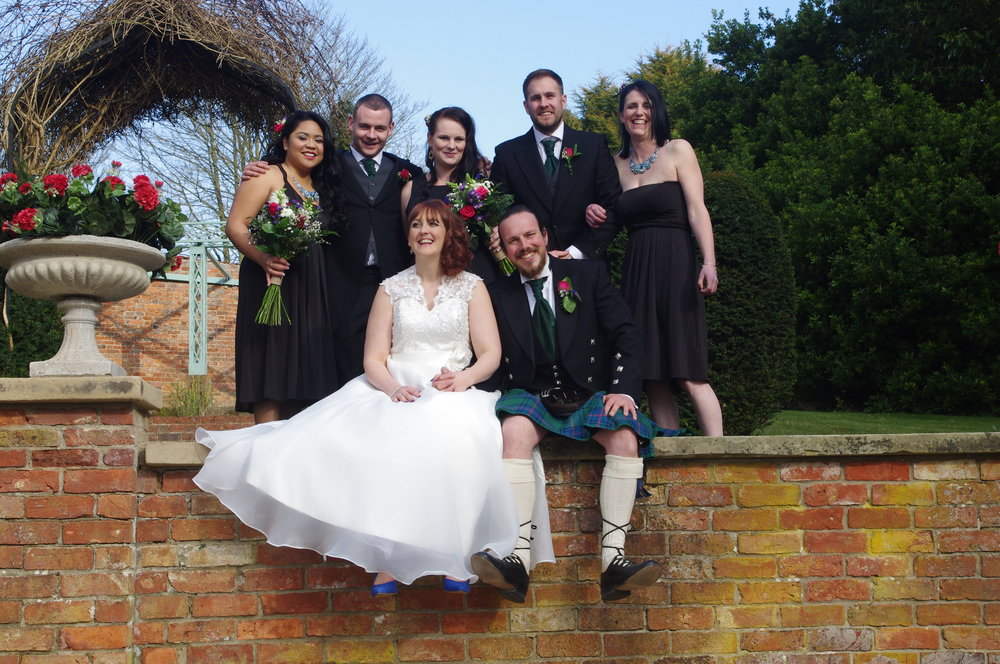 Wedding photograph in the grounds of Skendleby Hall