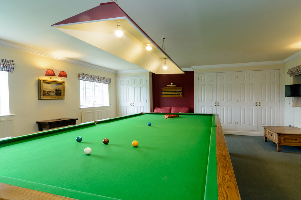 Billiards Room   Full size snooker table