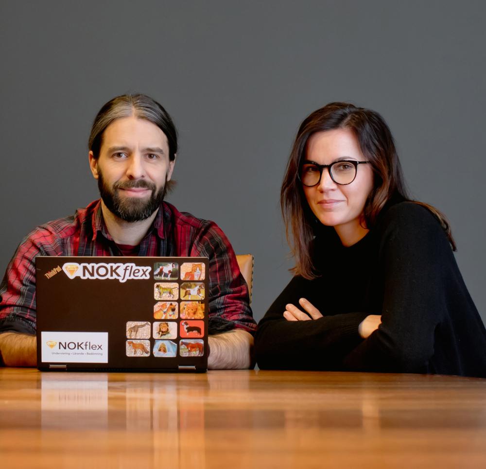 Daniel Barker och Stina Aglander. Foto: Marit Silverberg Solblad
