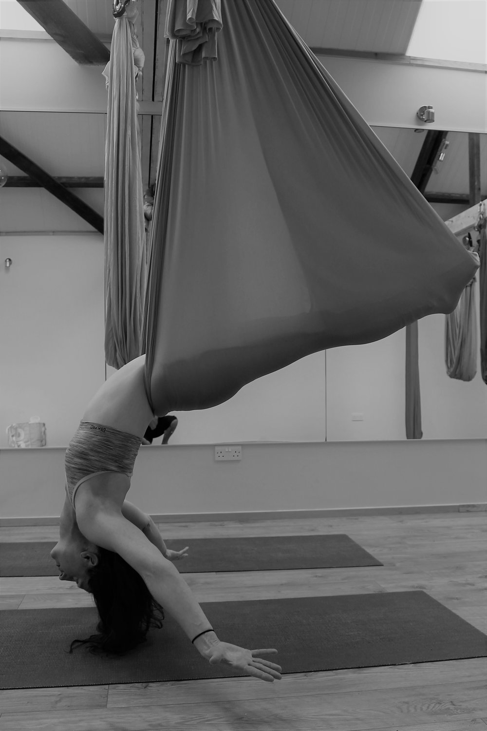 Class times - Classes take place at The Yoga Shed, The Square (Behind Pages Newsagent), Wickham, PO17 5JNTuesdays 1:45-2:45pm Aerial Yoga FlowMonthly Saturdays Beginners and FlowMonthly Sundays Beginners and FlowBooking is essential, please click hereCost £10Private class for up to 7 people £60