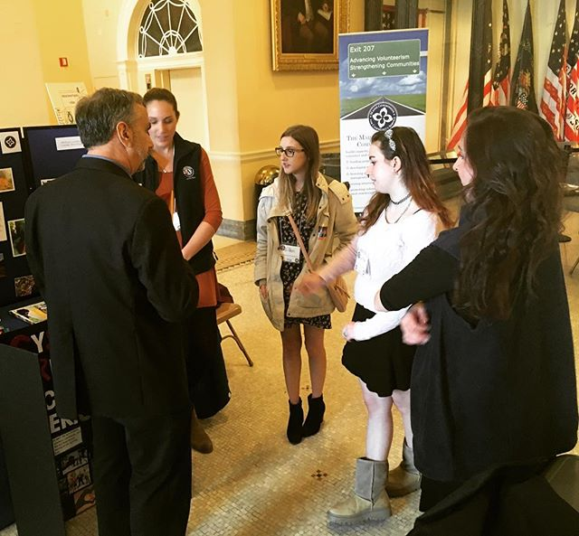 Our students representing #SySTEMREAL #AmeriCorps at Legislative Awareness Day in Augusta!