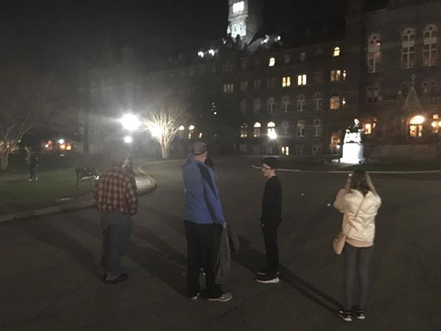 Katahdin crew exploring Georgetown in the evening!