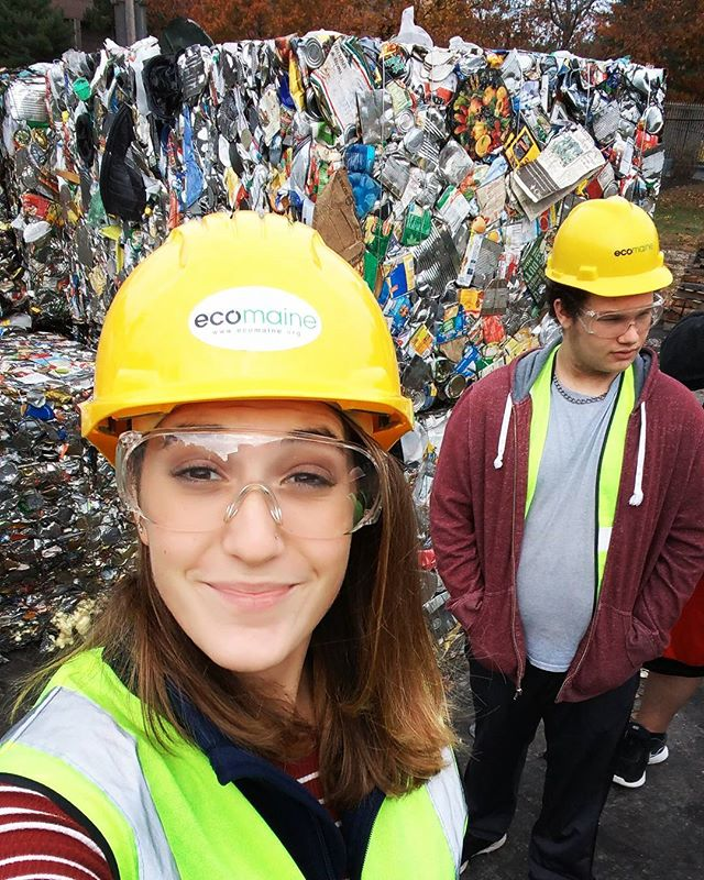 Trip to @eco_maine maine with SySTEM REAL Americorp was very informative! #reduce #reuse #recycle #gogreen💚