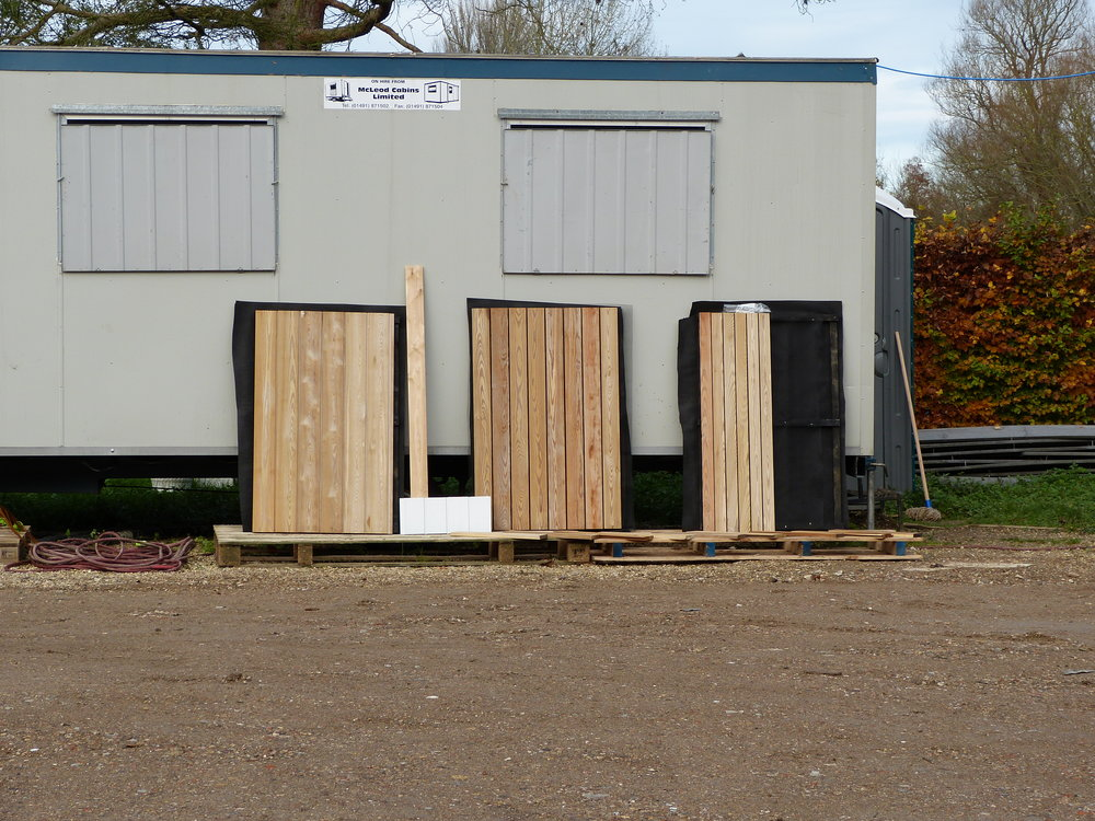 Larch cladding samples - out to weather