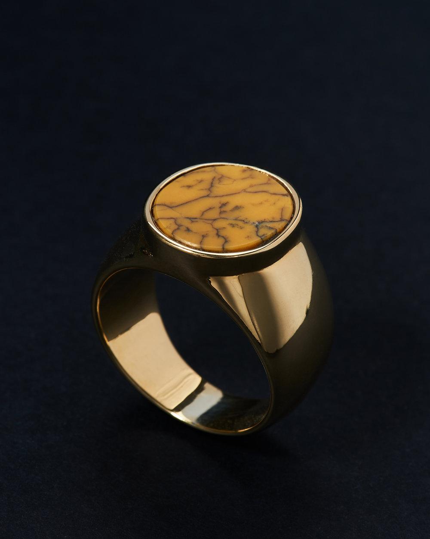 VINTAGE STONE GOLD 18k