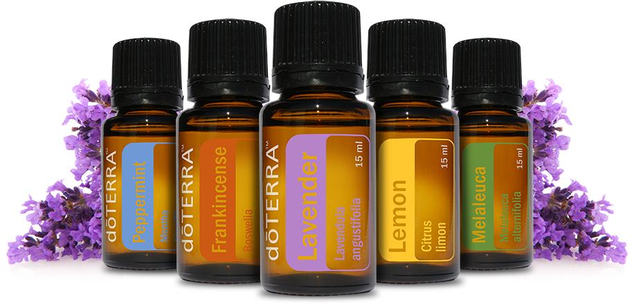 Peppermint, Frankincense, Lavender, Lemon & Melaleuca -