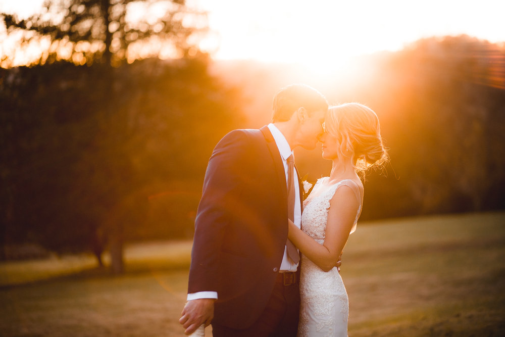 Gorgeous couple in sunset