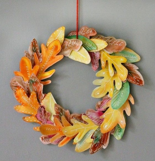 If you love a handmade wreath, give this artsy Autumn Wreath a try! This project takes a little time and care, but it turns out so beautifully, we think it is just perfect for a family day at home when a fun art project is just what you need. Click  here  to create this awesome project with step by step instructions.