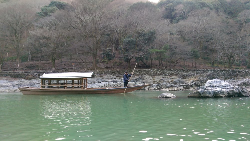 An uncommon sight in Japan nowadays, at a river in Kyoto..jpg