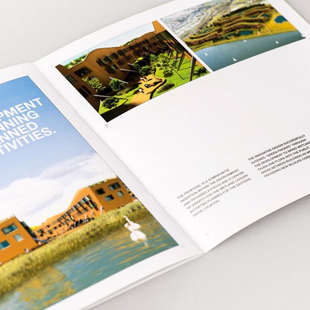 Brochure design should reflect your brand and house style. This is a brochure for an architect's practice #brochure #brochuredesign #graphicdesign #branding #design #designagency #fundamentaldesign