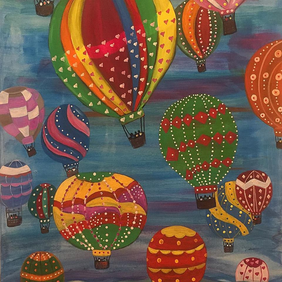"This Time Balloons, The Optimism Series (36x24"")"