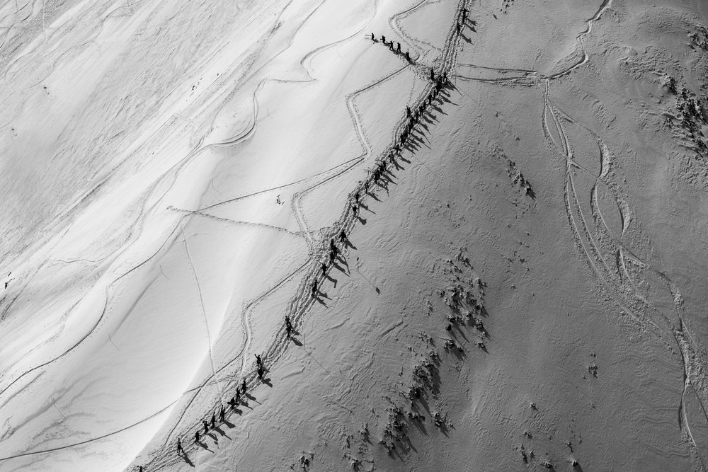 The March #3, Highlands Bowl (B&W)