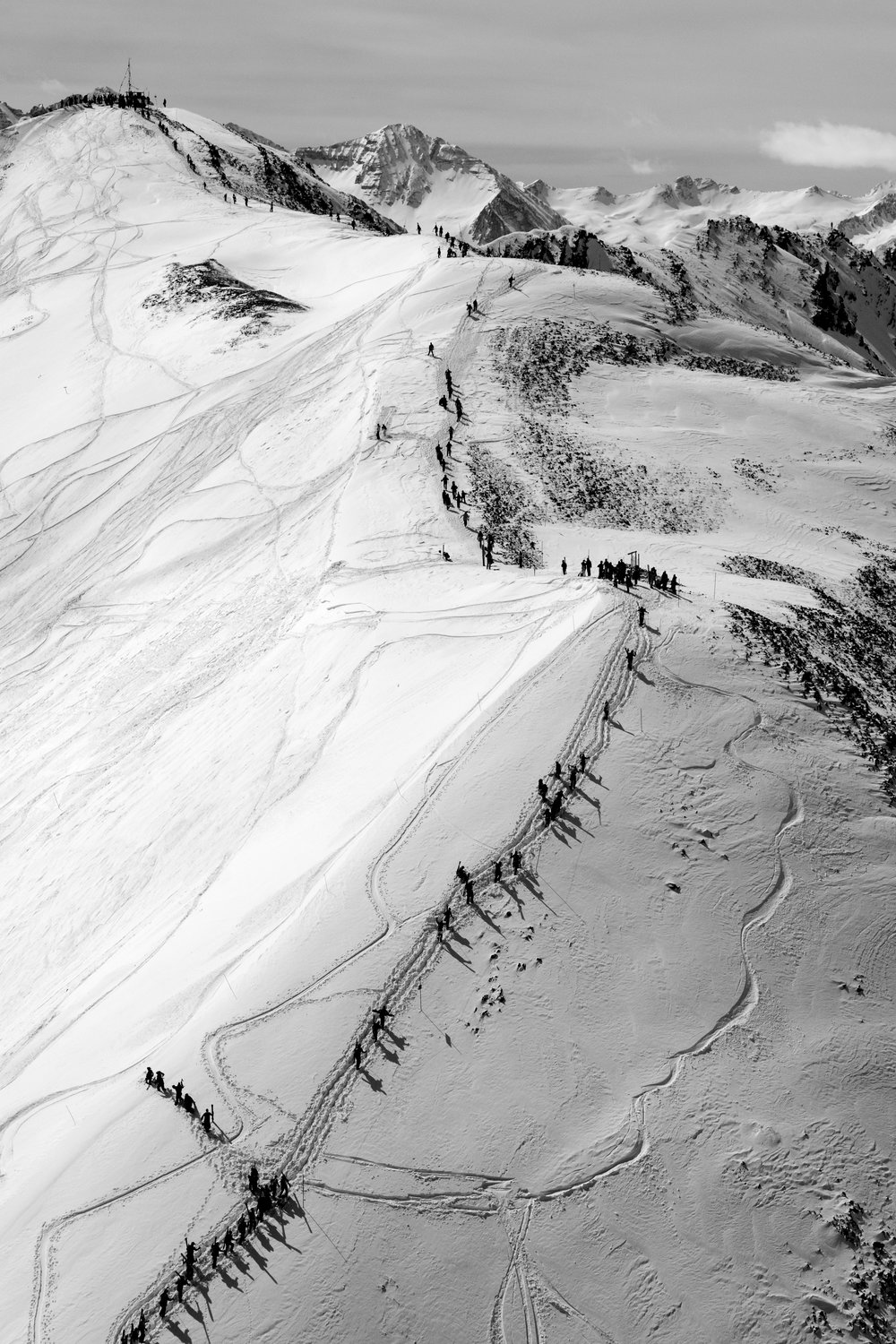 The Line #3, Highlands Bowl (B&W)