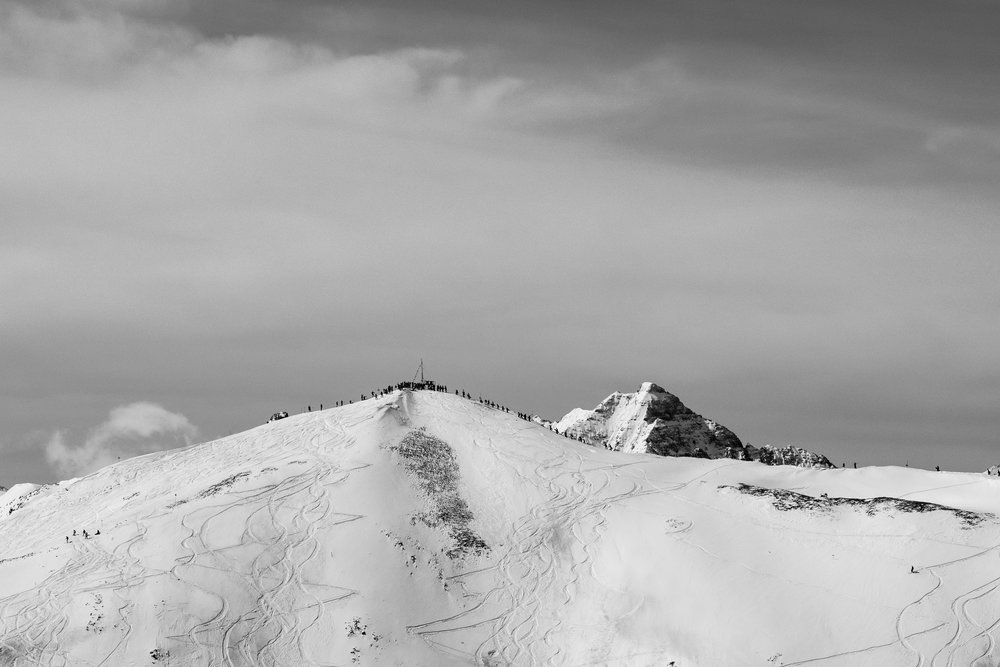 Prayer Flag #10, Highlands Bowl (B&W)