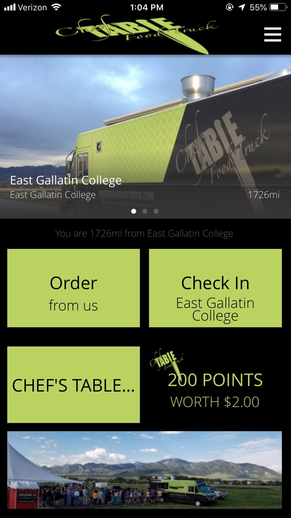 - chef's table food truck app