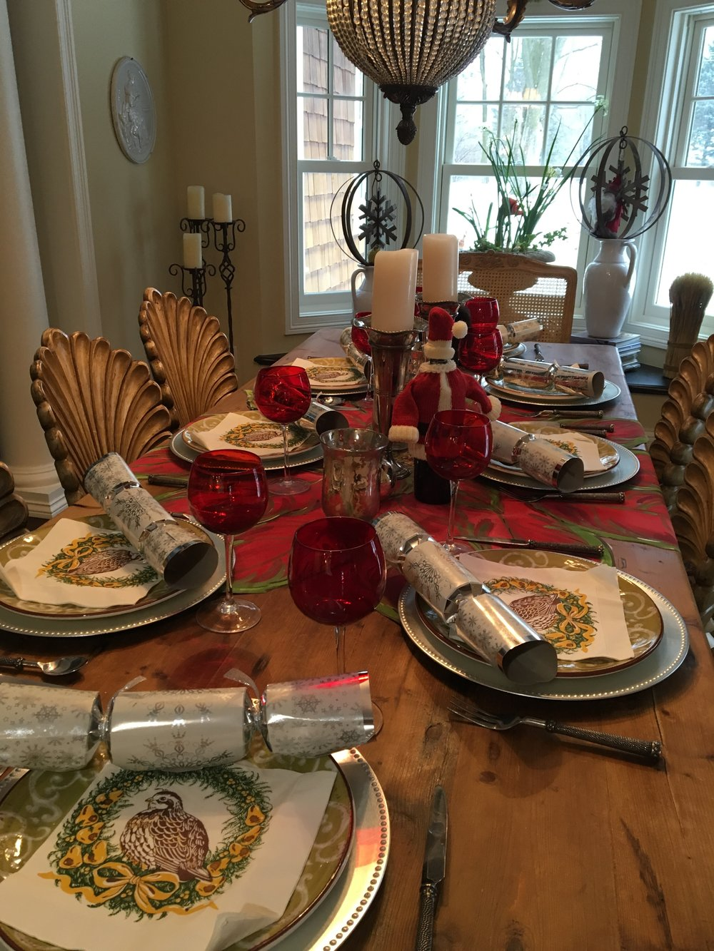 Its time to start thinking about the Holidays! Start with a table topper as design inspiration.