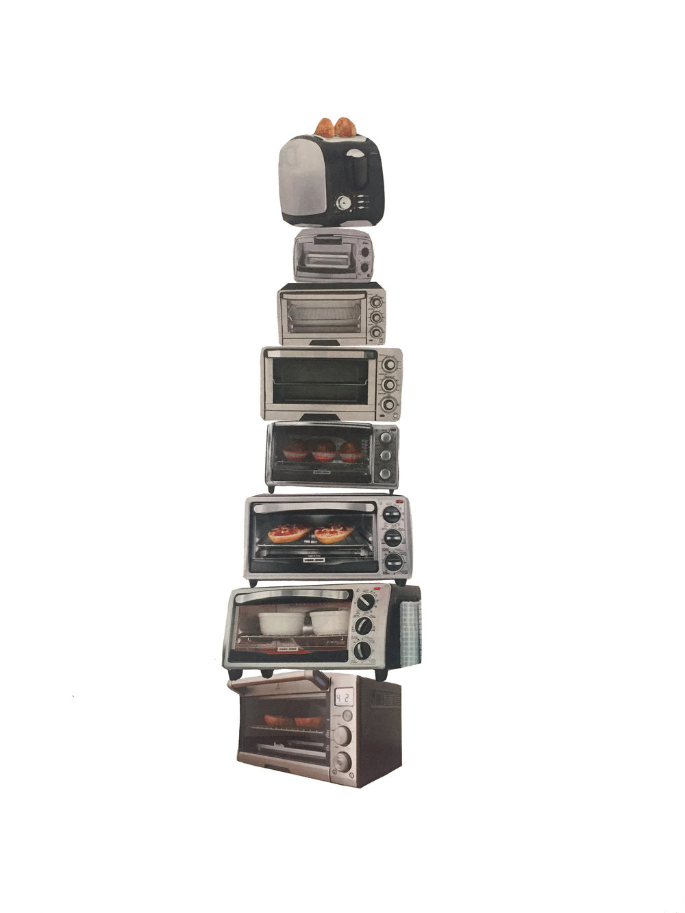 "Toaster tower 11""x14"" 2017"