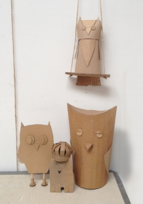 """Cardboard Owls,"" image courtesy of Your Store"