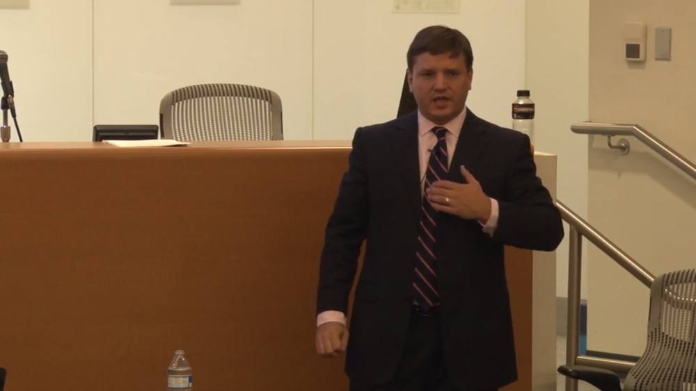 Wes Rucker lecturing on DWI Defense to members of the Houston Bar Association in July of 2016.