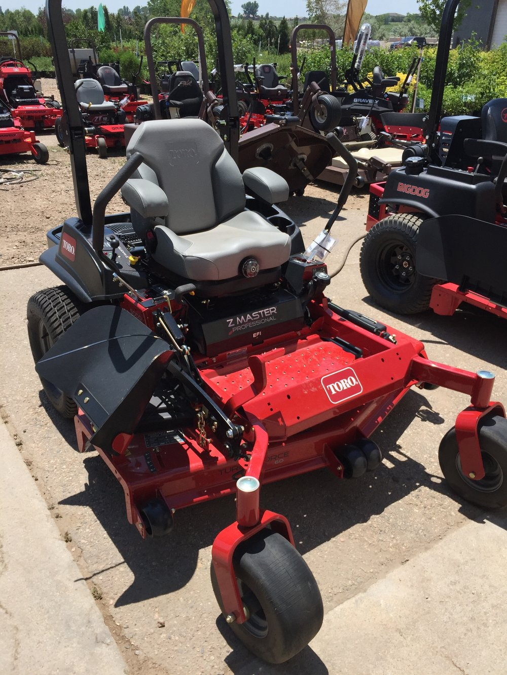 The Toro Z Master 5000 series equipped with a deluxe suspension seat that uses 3-D isolator mounts might be the comfiest ride out there.