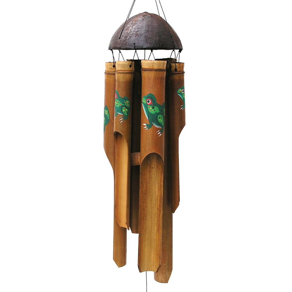 140, 141 - Frog Simple Bamboo Wind Chime