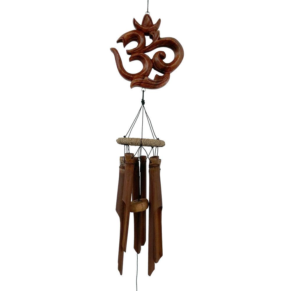 631 - OM Symbol Bamboo Wind Chime
