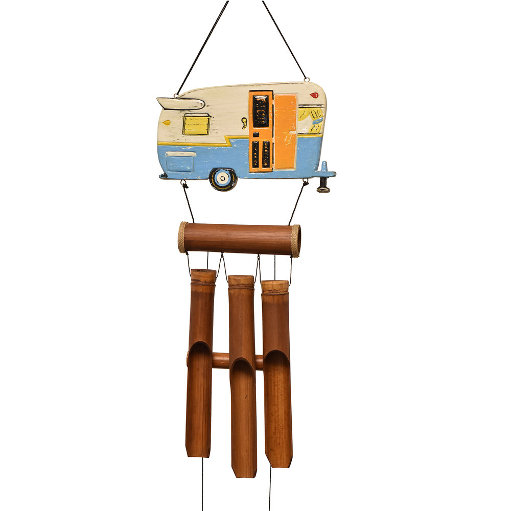 233 - Retro Camper Bamboo Wind Chime