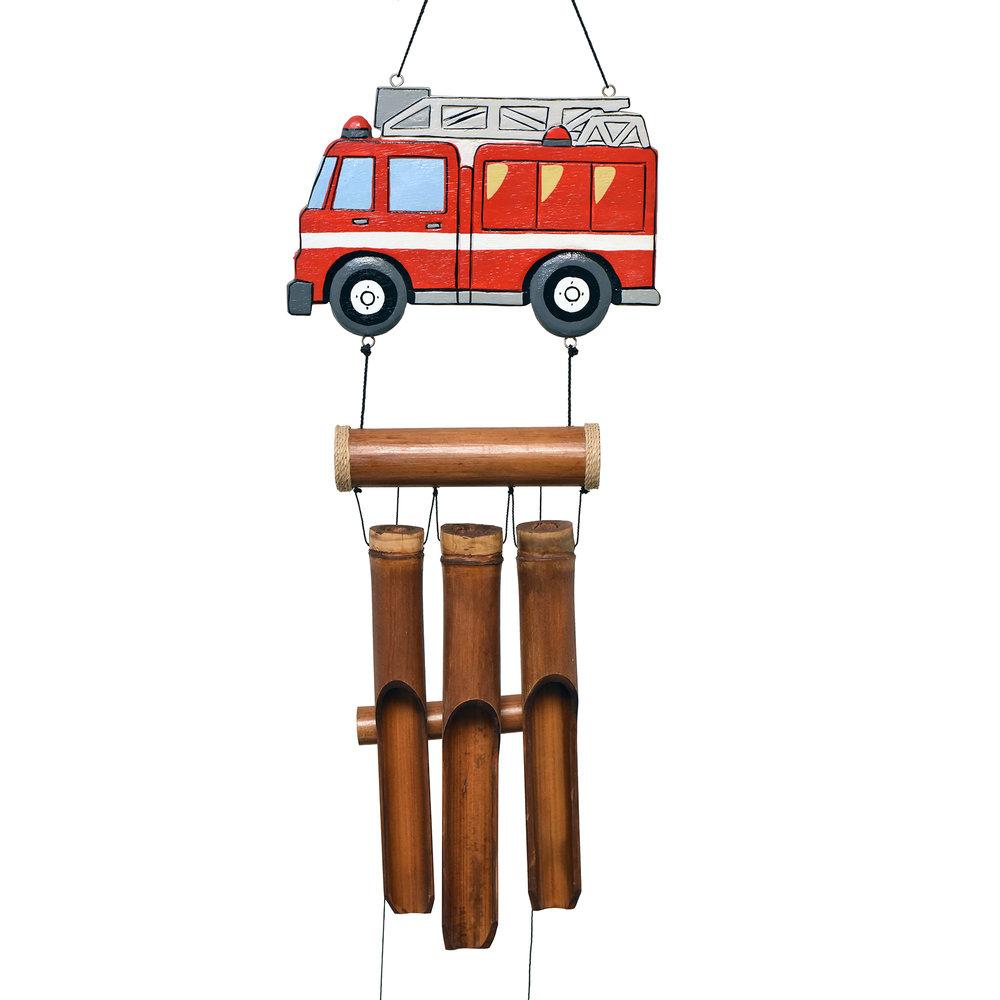 238 - Firetruck Bamboo Wind Chime