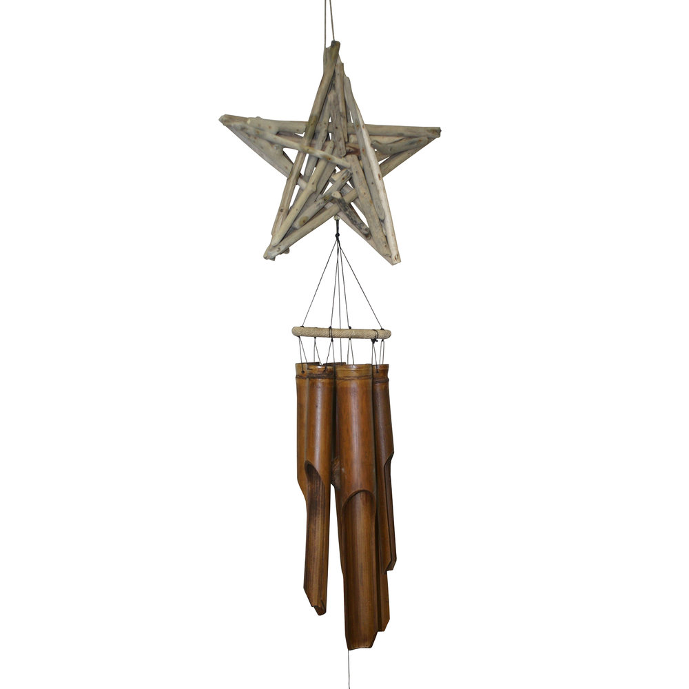 241 - Driftwood Star Bamboo Wind Chime